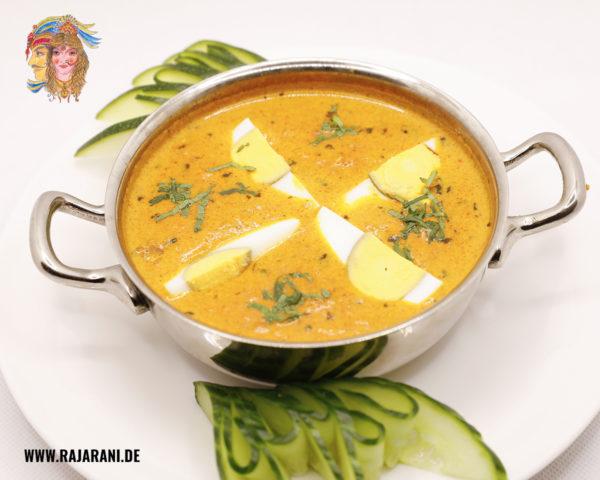 Eier Curry indisch