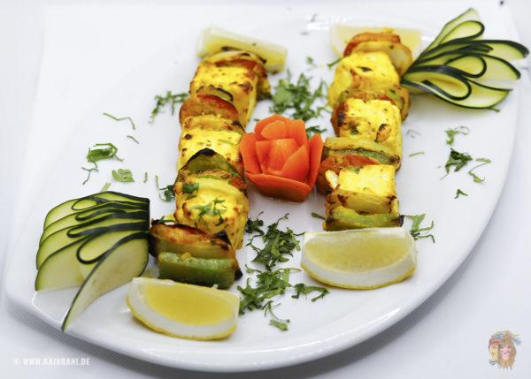 Indisches Essen Paneer Tikka Tandoori bei RajaRani Heidelberg