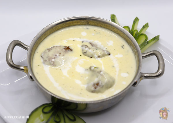 Indisches Essen Malai Kofta bei RajaRani Heidelberg