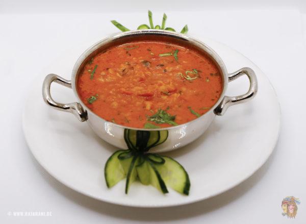 Indisches Essen Linsen Curry bei RajaRani Heidelberg