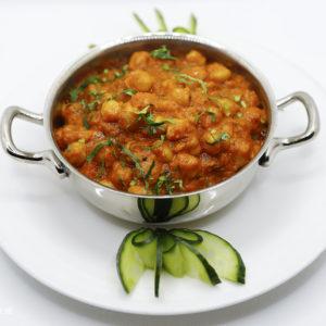 Indisches Essen Kichererbsen Curry bei RajaRani Heidelberg