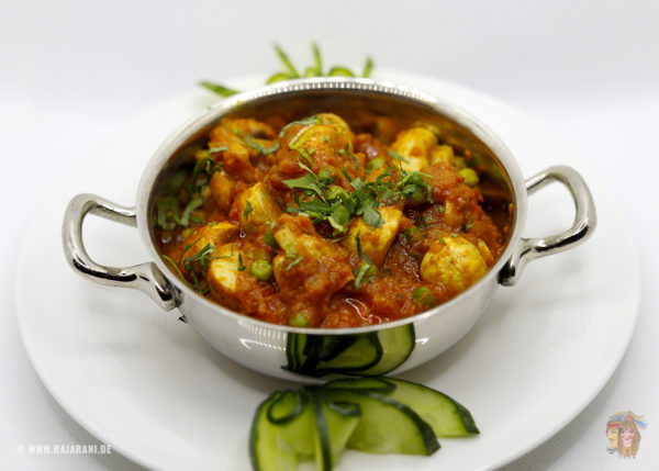 Indisches Essen Punjabi Baji Vegan bei RajaRani Heidelberg
