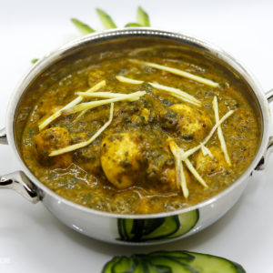 Indisches Essen Palak Mushroom bei RajaRani Heidelberg