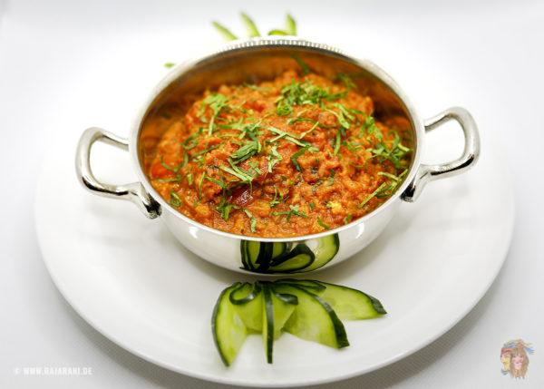Indisches Essen Bengan Bartha bei RajaRani Heidelberg