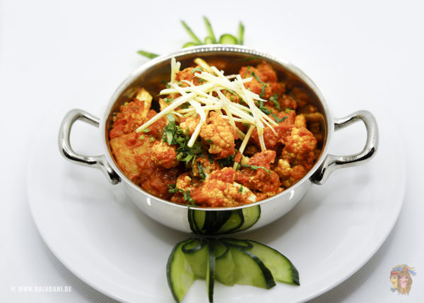 Indisches Essen Alu Gobi bei RajaRani Heidelberg