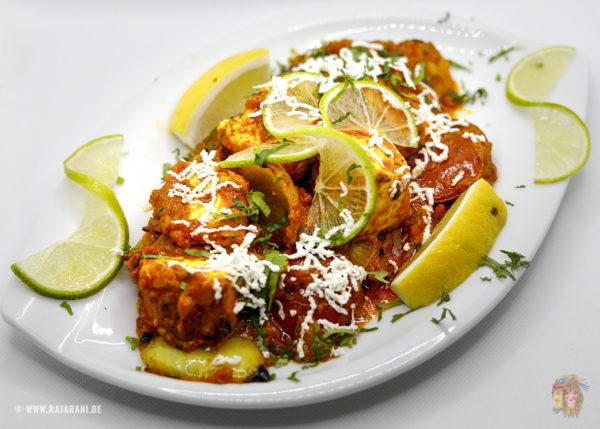 Indisches Essen Paneer Tikka Masala bei RajaRani Heidelberg