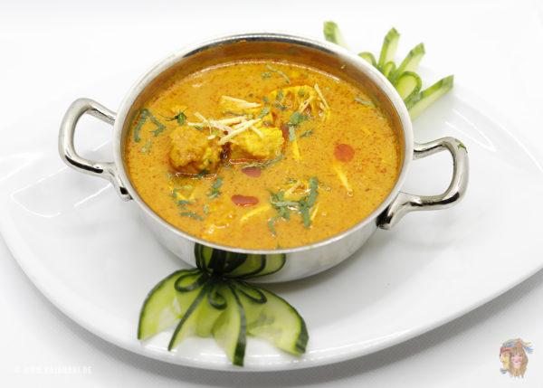 Indisches Essen Chicken Curry bei RajaRani Heidelberg