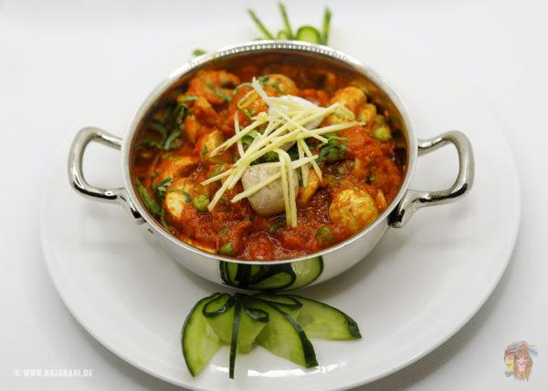 Indisches Essen Punjabi Baji bei RajaRani Heidelberg