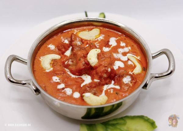 Indisches Essen Lamm Tandoori Masala bei RajaRani Heidelberg