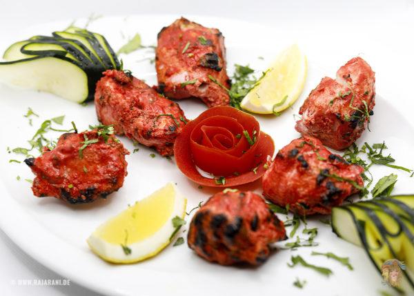 Indisches Essen Murgh Tikka bei RajaRani Heidelberg