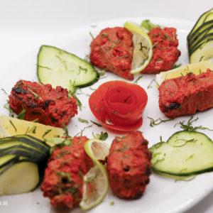Indisches Essen Lamm Tikka bei RajaRani Heidelberg