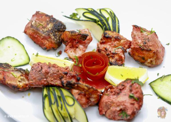 Indisches Essen Lachs Tikka bei RajaRani Heidelberg